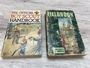 Vintage Boy Scout Field Book And Official Boyscout Handbook Lot Of 2