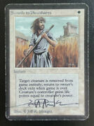 Alpha Swords To Plowshares - Artist Signed - Heavily Played - Mtg - Magic