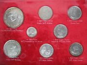 Thailand Commemorative 1-50 Baht 8 Coin Collection Set Issued By Royal Thai Mint
