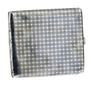 1911 Antique Germany Cigarette Case With A Plaid Pattern Silver 900 Blackened