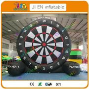 Cheaper 13ft Inflatable Foot Dart Board Golf Game Soccer Kick With Air Blower