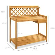 Best Choice Products Outdoor Wooden Garden Potting Bench Planting Desk