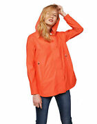 Save The Duck Womenand039s Hooded Trench Rain Coat Jacket In Juice Red Size 3 - L