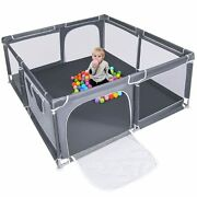 Upgraded Version Baby Playpen,70'' Extra Large Kids Play Yard With Gate, Anti
