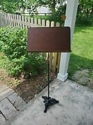 Antique Gold Cast Iron Music Stand Or Podium Or Book Stand Or Art Stand Or..