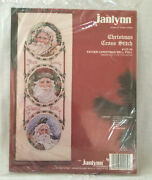 Janlynn Father Christmas Bell Pull 125-34 Counted Cross-stitch Kit New