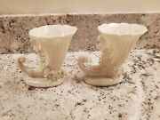 Capodimonte Marking Made In Germany Mini Horn Of Plenty Vases Beautiful Imposter