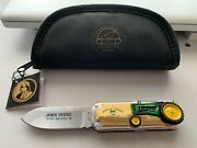 Franklin Mint John Deere Tractor Knife With Case And Tag