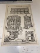 1888 Building News Architecture Antique Church Furniture Charmouth St Andrews