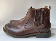 Skechers Pemex Setro Menandrsquos Brown Leather Ankle Boots Style 63878 Size 14