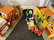 Fisher Price Little People Vintage Main Street Town City Cars Barber Post Office