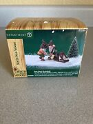 Dept 56 North Pole Woods Nuts About Broomball 56926 Retired Same Day Ship