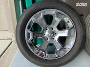 Rims And Tires For Sale. Chrome Rims 20x9 And Bridgestone Dueler All Seasons