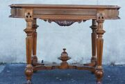 Antique 19th Century Walnut American Victorian Parlor Center Table