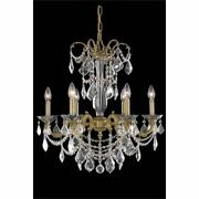 Asfour Crystal Chandeliers French Gold For Foyer Kitchen Dining Room 6-light 26