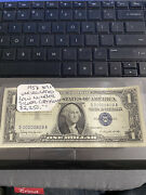 1957 Uncirculated Low Number 809a Silver Certificate