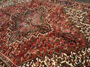 7and0395x10and0392 Superb Semi Antique Azerbaijani Heris Tribal Hand Knotted Wool Area Rug