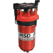 Msd Red Pro-mag 44 Amp Generator Clockwise Rotation Band Clamp Standard Cap