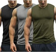 Coofandy Menand039s 3 Pack Workout Tank Tops Gym Muscle Tee Bodybuilding Fitness Slee
