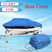 Oxford Fabric Waterproof Boat Cover For V-hull Runaboutsandbass Boats 11-22ft 210d