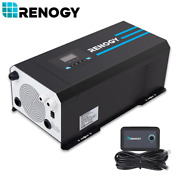 🗜renogy 2000w/3000w 12v Pure Sine Wave Solar Inverter Charger W/ Lcd Display