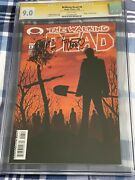 The Walking Dead 6 Cgc 9.0 Comic Signed And Sketch By Tony Moore -death Of Shane
