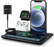 5 In 1 Wireless Charger 15w Fast Wireless Charging Pad Dock With Adapter Iphone