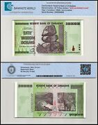 Zimbabwe 50 Trillion Dollars Banknote 2008 P-90z Unc Replacement Low Serial