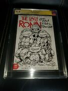 The Last Ronin 1 Tmnt Justin Roiland Sketch Variant Cgc Ss 9.9 Triple Signed