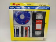 Magic Audio Video Cleaning Kit For Cd, Cassette And Vhs Players Wet Or Dry Cdc-388