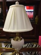 Lenox Table Lamp By Quoizel W/double Lined Silk Shade