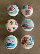 Set Of 6 Handcrafted And039nautical Beachand039 Theme Door Knobs