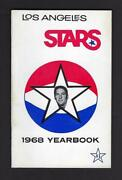 1968 Aba Los Angeles Stars Media Guide/yearbook, 1st Year,rare  - Near Mint