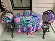 New, Lily Pulitzer Table Set W/tumblers/straws And Pillows