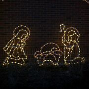 Christmas Light Display Commercial C7 Nativity Holy Family Lighted Yard Art