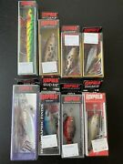 Rapala Fishing Lure Lot X 8 New Skitter Shad Floating Frog Glass Fire Tiger Pop