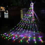 Outdoor Christmas Decorations Star Lights String320 Led 16.4 Ft Christmas Tree