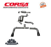 Corsa Performance 14834blk Sport Cat-back Exhaust System Fits 14-18 Gti