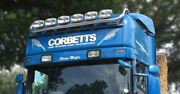 Roof Bar + Led Spots Lamps S For Scania 4 Series Topline Stainless Front Truck