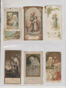 Lot Six 6 Santini-religious- Holy Cards -period -18/19 -3
