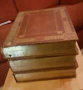 3 Volume Antiquarian King James Bible 1817 Edition D'oyly And Mant Collectible