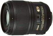 Nikon Single Focus Micro Lens Af-s Micro 60mm F / 2.8g Ed Full Size Compatible
