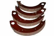 Brake Shoes Set Of 4 With Brake Linings For Ford Tractor @ca