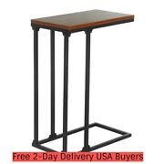 24.8and039and039 C Shaped End Tables Sofa Side Desk For Small Space Portable Lap Table