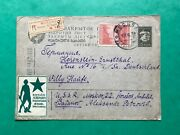 Ussr Russia Stamp Cover 1932 Stationary Esperanto Labels Front And Back Very Rare