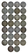 1900and039s 15 Coin Lot 50c Barber Silver Half Dollars Random Common Dates Ag/good