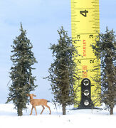 Model Fir Trees, 3 Inches Tall, Choose How Many, For Dioramas, Wargames, Train