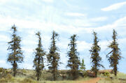 Model Fir Trees, 5 Inches Tall, Choose How Many, For Dioramas, Wargames, Train