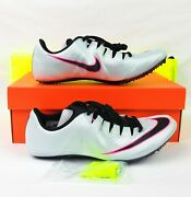 Nike Zoom Superfly Elite Track Shoes Menand039s Sz 10 Grey 835996-003 Sprint Spikes
