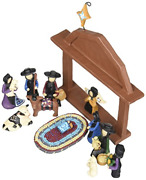 13 Piece Amish Nativity With Animals And Wiseman - Used By Blossom Bucket 82415